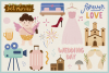 Wedding Day Vector Clipart and Seamless Pattern example image 4