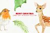 Watercolor Christmas Card Design Kit example image 5