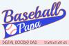 Baseball Papa SVG   Silhouette and Cricut Cut File example image 1