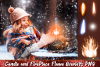 Christmas overlays Candle flame png Fireplace overlays example image 1