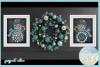 Snowflakes Snowman Monogram Svg Dxf Eps Png Pdf example image 2