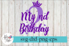 My 2nd Birthday Party Diva SVG Cutting Files example image 1