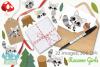 Raccoon Girls Clipart, Instant Download Vector Art example image 4