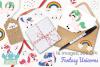 Fantasy Unicorns Clipart, Instant Download Vector Art example image 4