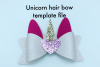 Hair bow template bundle #2 - hairbow svg files - diy bows example image 5