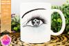 White Awareness Ribbon Eye - Printable Design example image 1