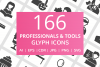 166 Professionals & their tools Glyph Icons example image 1