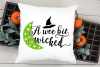 A wee bit wicked SVG, Halloween cut file example image 4