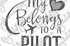 My Heart Belongs to a Pilot Love Sign Cut & Print PNG SVG example image 5