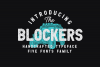 THE BLOCKERS 5 Fonts Family example image 5
