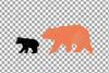 Baby and mama bear nursery clip art collection, bears print example image 7