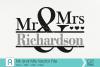 Mr and Mrs Svg, Mr and Mrs Monogram Svg, Wedding Svg example image 1