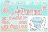 Valentines Day Plaid Bundle Svg Dxf Eps Png Pdf Files example image 1