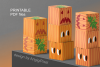 Pumpkins Treat Boxes Templates PDF files - 2 size - 2 style example image 2