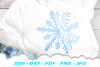 Christmas Snowflake Let It Snow SVG DXF Cut Files example image 2