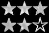Embossed Silver Stars example image 2