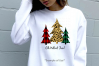 Plaid Leopard Christmas Trees Oh What Fun Sublimation Bundle example image 2