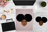 BUNDLE Afro Girl, Afro Girl Face, BAE, BHM SVG Cut File example image 2
