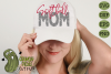 Softball Mom & Bonus Team Mom Sports SVG Cut File example image 1