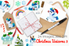 Christmas Unicorns 3 Watercolor Clipart, Instant Download example image 4