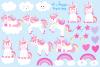 Unicorn clipart, Unicorn graphics & Illustrations, Unicorns example image 2