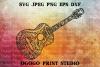 Guitar Svg, Zentangle SVG, Music SVG, Mandala svg, Cricut example image 1