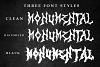 Monumental Purgatory - 3 Awesome Deathmetal Fonts example image 2