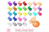 44 Colorful Basket Clipart Basketball Sort Planner Stickers PNG with Transparent Background for Personal & Commercial Use example image 1