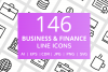 146 Business & FInance Line Icons example image 1