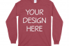 Gildan 5400 Long Sleeve Tshirt Mockups-16 example image 4