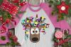 Christmas Lights Tangled Reindeer Watercolor example image 7