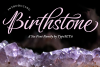 Birthstone Font Family example image 1