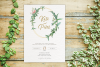 Greenery Wedding Invitation Template Set, Botanical example image 7