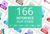 166 Interface Flat Icons example image 1