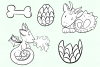 Cute Dragons Digital Stamps example image 3