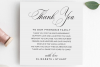 Printable Thank You Letter Template, Wedding Table Thank You example image 2
