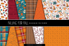 Falling For Fall Illustrations & Seamless Digital Patterns example image 2