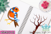 Christmas Robins Watercolor Clipart, Instant Download example image 4