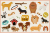 Cute Dog Vol.02 Vector Clipart and Seamless Pattern example image 2