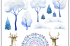 Winter tale. Watercolor cliparts example image 8