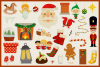 Holy Christmas Vector Clipart and Seamless Pattern example image 4