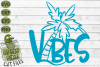 Beach Vibes Palm Tree SVG Cut File example image 2