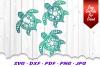 Mandala Sea Turtle SVG DXF Cut Files Bundle V3 example image 3