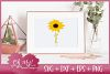 Family Sunflower - SVG EPS DXF PNG Cutting File example image 2
