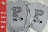 P is for Pre-K svg dxf - first day of Pre-shool shirts svg example image 1