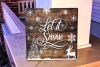Let it Snow - Christmas SVG Cut File example image 1