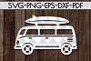 Summer Sign Papercut Templates Bundle, Beach SVG, DXF, PDF example image 5