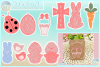 Easter Earring Template Bundle Faux Leather Pendant Necklace example image 1