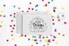 Rainbow confetti greeting card mockup with smart objects (landscape) 0030-04 example image 1
