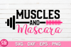 Muscles and mascara SVG example image 1
